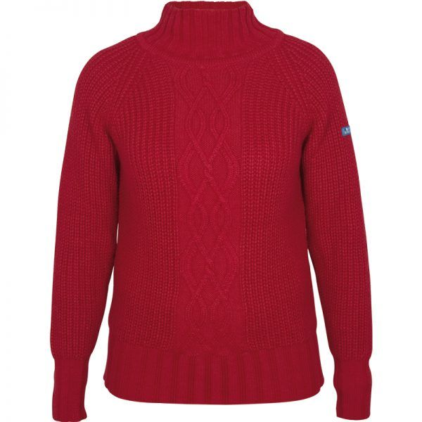 A3371 Rojo batela mujer urzelai lana trenzas