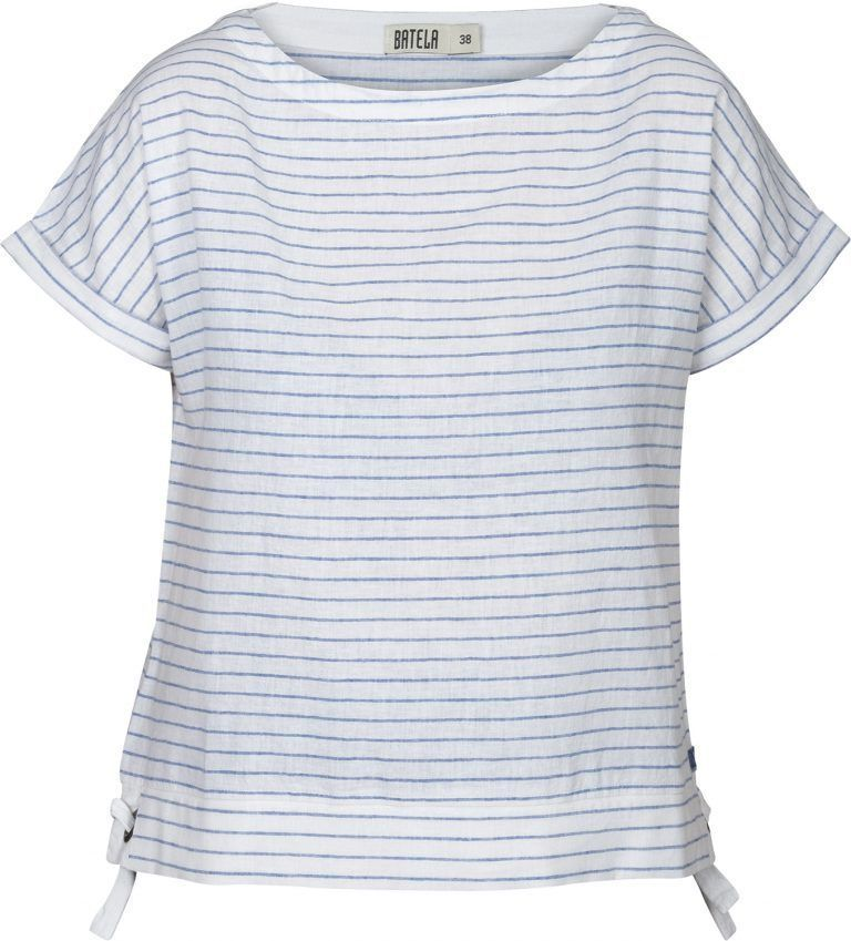 batela urzelai camiseta rayas blanco ultramar primavera verano lino