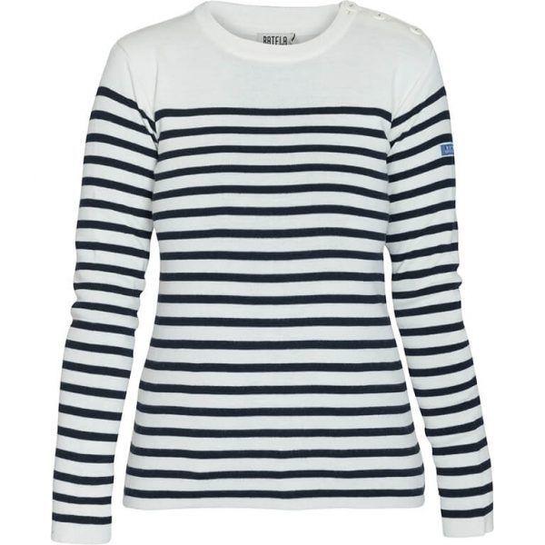 batela jersey mujer blanco marino lana