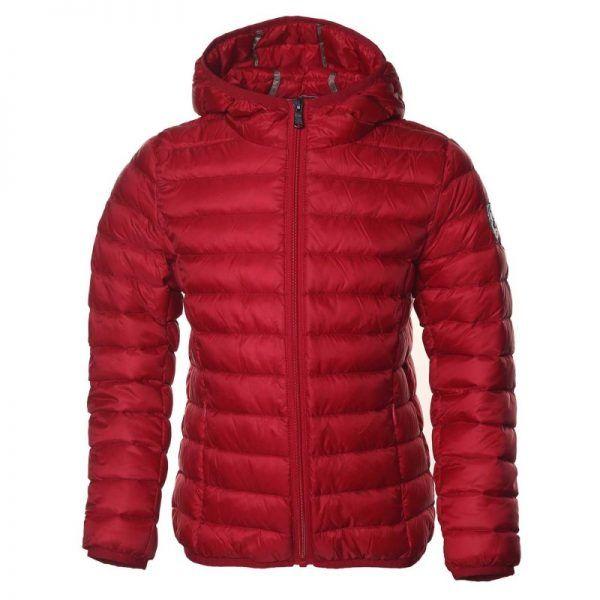 chaqueta plumifero jott niño rojo